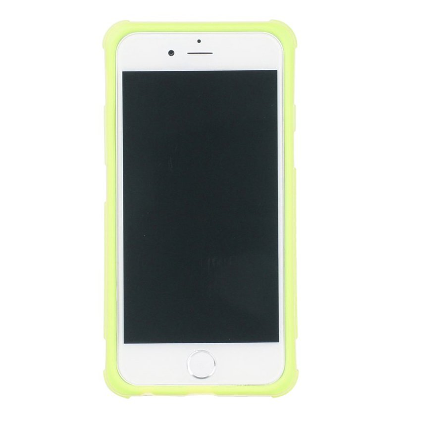 HB13 Cases TPU Double Color Border Cell phone Hit color Frame Phone shell Protective sleeve for iPhone 6 Plus Yellow