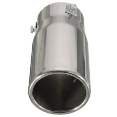 HDL Car Auto Vehicle Chrome Exhaust Pipe Tip Muffler Steel Stainless Trim Tail Tube (Intl)