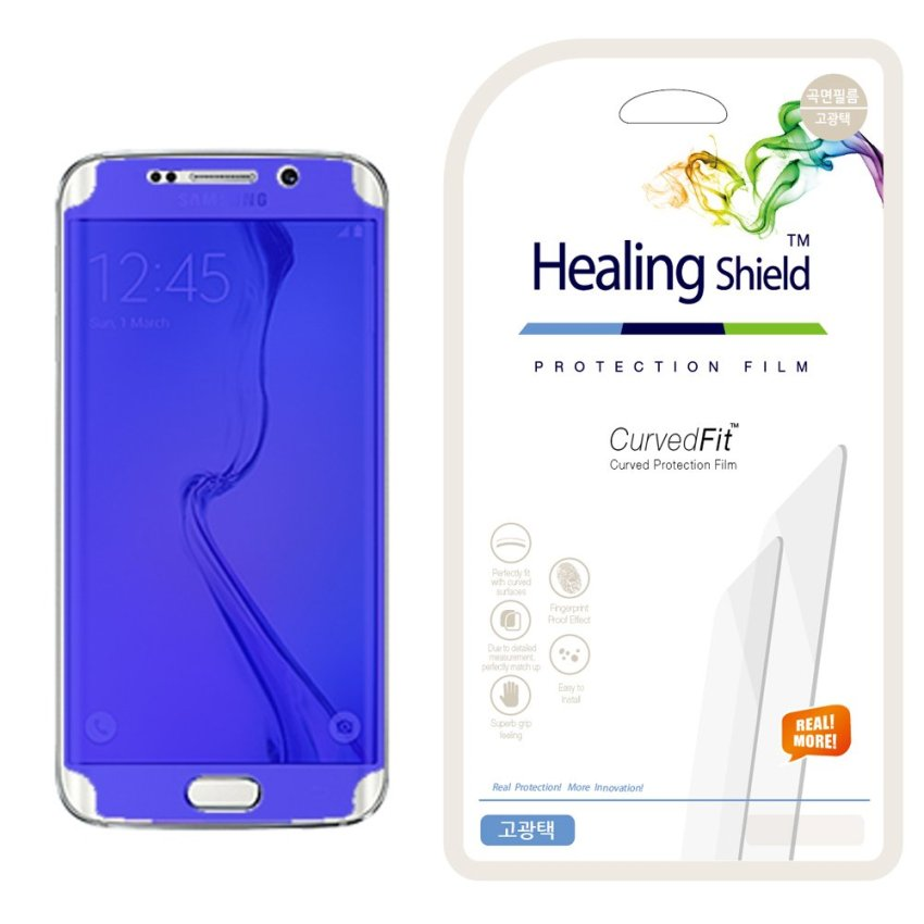 HealingShield Samsung Galaxy S6 Edge Clear Type Screen Protector Front 2pcs / Back 1pc