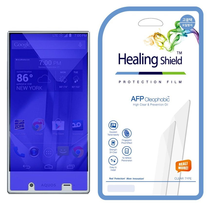 HealingShield Sharp Aquos Crystal Clear Type Screen Protector Set of 2