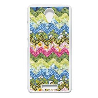 Backcase Batik Note2 heavencase casing xiaomi redmi note 2 motif batik kayu chevron 27 putih