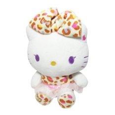 Hello Kitty Boneka Hello Kitty 17 cm Sanrio Original - Orange Leopard