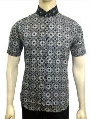 Herman Batik A7836 Baju Kemeja Batik Pria Slimfit Fashion Jeans Muslim Koko