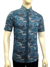 Herman Batik B7812 Baju Kemeja Batik Pria Slimfit Fashion Jeans Muslim Koko