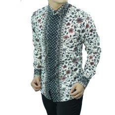 Herman Batik Baju D118 Kemeja Batik Pria Slimfit Fashion Jeans