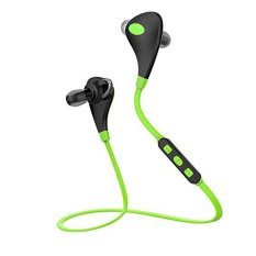 HIFI Wireless Mini Lightweight Wireless Stereo Sports / Running & Gym / Exercise Bluetooth Headphones Headsets With Mic Microphone (Green) (INTL)