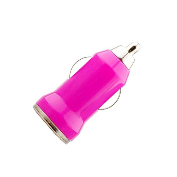 High Quality Car Charger Bullet Car Phone Charger (Rose Red ) (Intl)