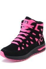 High Shoes Female Korean Slim Thick Padded Shoes Female Sports Shoes(pink) (Intl)