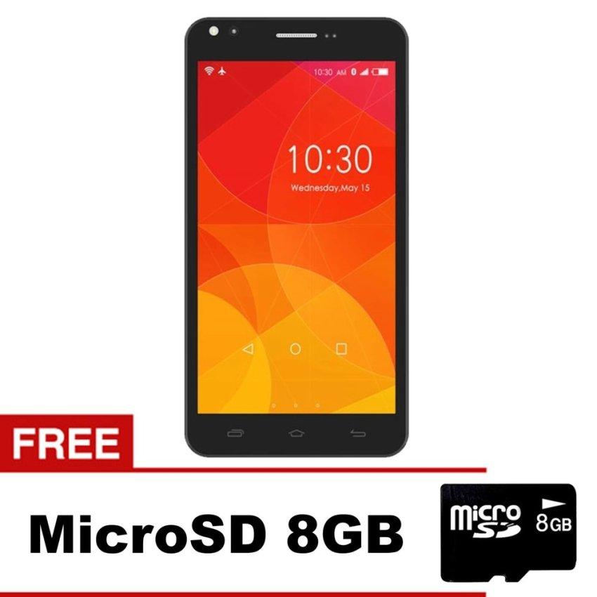 Himax Polymer 2X - 8GB - Hitam + Gratis MicroSD 8GB