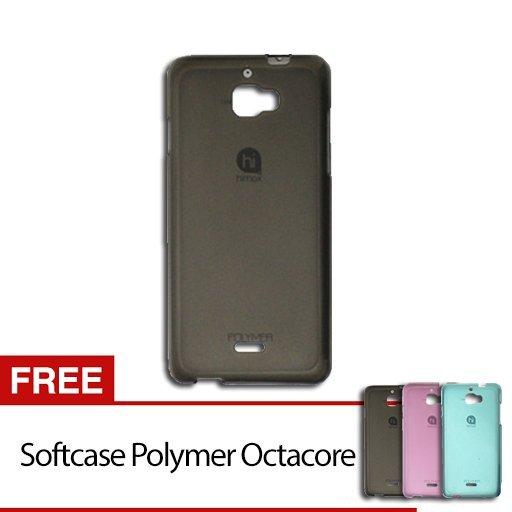 Himax Soft Case Polymer Octacore - Hitam + Gratis Himax Soft Case Polymer Octacore - Hitam