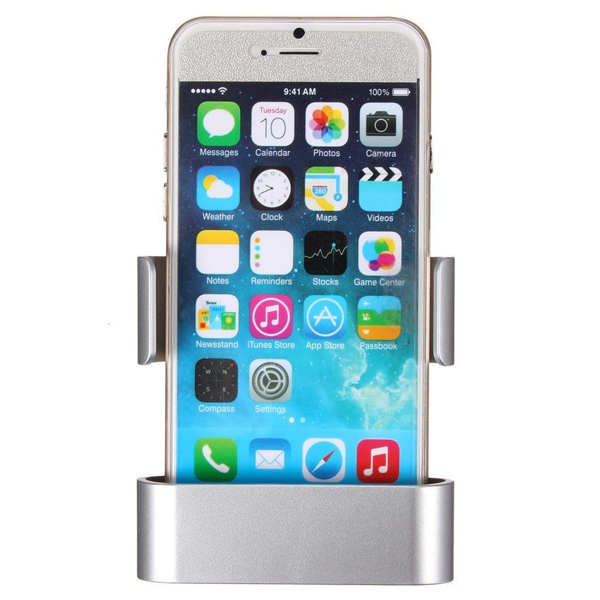 HKS Car Air Vent Clip Mount Holder Cradle Stand For iPhone 6 Galaxy S3 S4 S5 HTC M9 Silver (Intl)