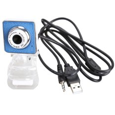 HKS USB 2.0 360 Degree Rotation Web Camera Webcam With Mic For Laptop Desktop (Blue) (Intl)