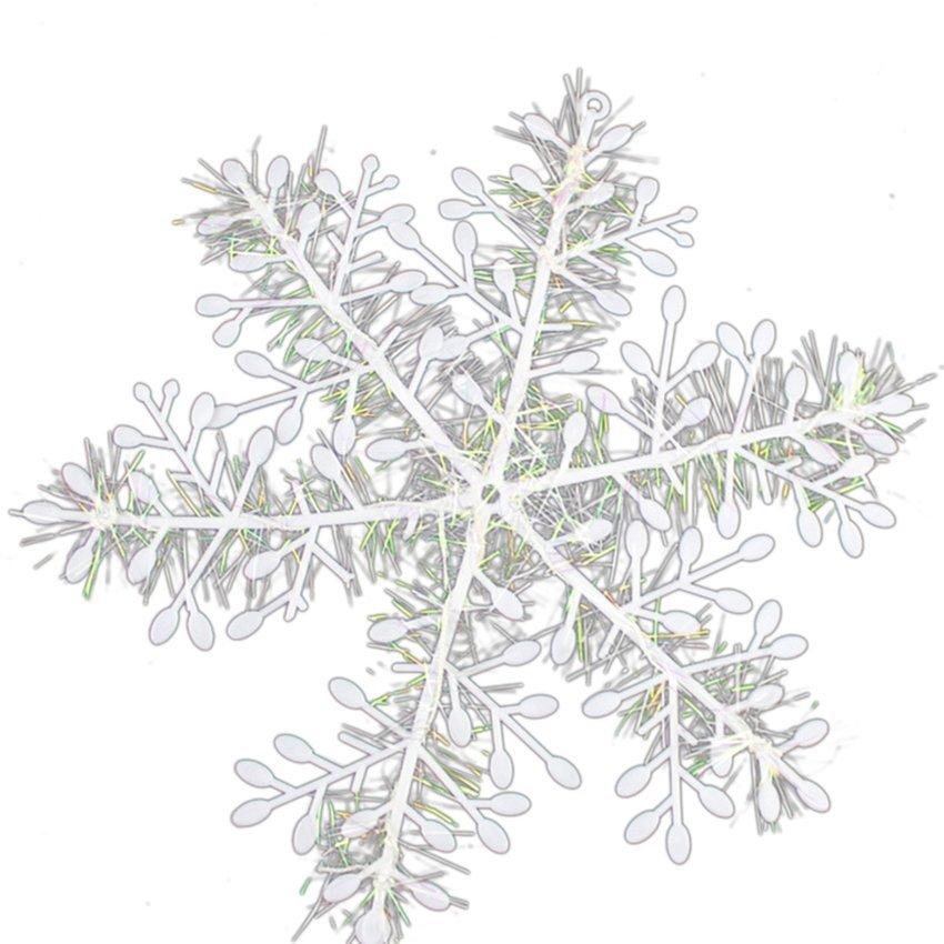 HKS White Snowflake Ornaments Christmas Tree 15pcs (Intl)
