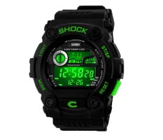 Hogakeji SKMEI Unisex Fashion Multifunction Digital Wrist Watches (Green)