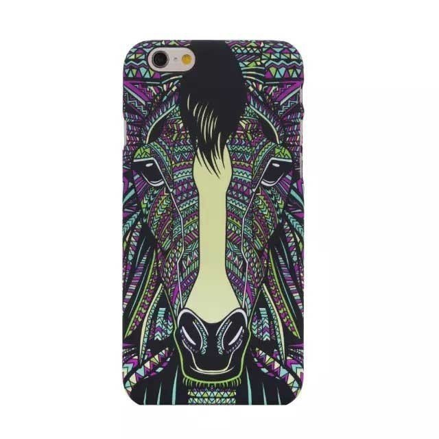 Horse Faces Painting Case for iPhone 6 Plus (Multicolor)
