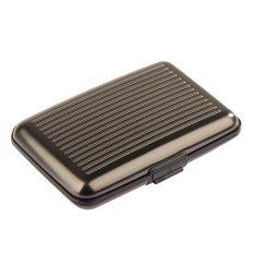 Hot Sale Metal Aluminium Business ID Credit Card Wallet Holder Pocket Case Box (Grey)
