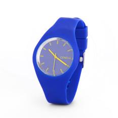 Hot Selling Jelly Silicone Geneva Watch Relogio Feminino Fashion Women Wristwatch Casual Luxury Watches (Blue)