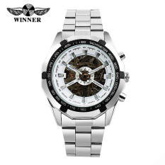 Hot Selling Luxury Men Watch Automatic Skeleton Clock Mechanical Full Steel Stainless Wristwatch RelojesHombre