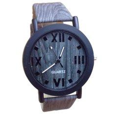 Hot!Vintage Wood Grain Roman Numerals Watches Fashion Men's Women's Watch (Intl)