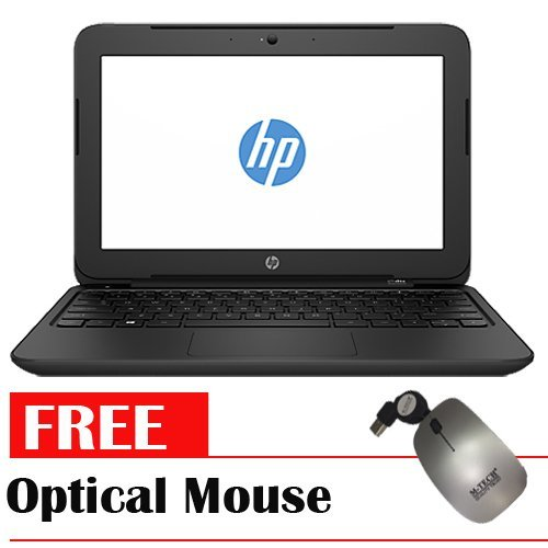 "HP 11-f005TU - 11.6"" - Intel Celeron N2840 - 2GB RAM - DOS - Merah + Gratis Optical Mouse"
