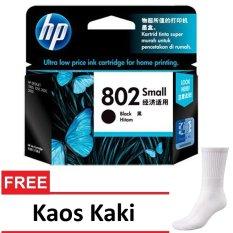 HP 802 Tinta Cartridge - CH561ZZ  - Hitam + Gratis Kaos Kaki