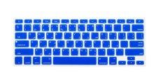 HRH Arabic Silicone Keyboard Cover Skin For Apple Macbook Pro Retina MAC 1.15 17 Air 13 (Blue)