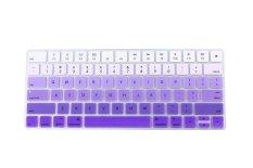 HRH Hot New Keyboard Cover Silicone Skin Protector Film For Apple Magic Keyboard MLA22B / A US Keyboard Layout (Gradient Purple) - Intl