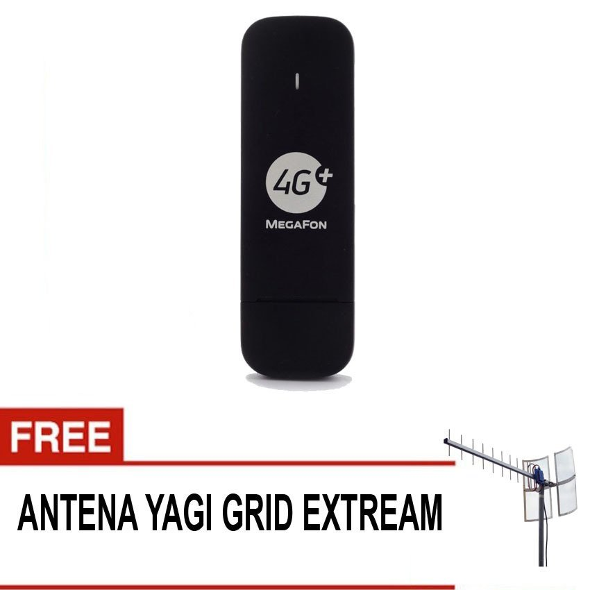 Huawei E3372 150Mbps Support 4G LTE Suport All GSM + Gratis Antena Yagi Grid Extreme - Hitam
