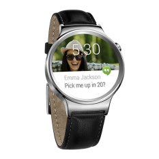 Huawei Watch W1 Stainless Steel - Strap Kulit - Hitam