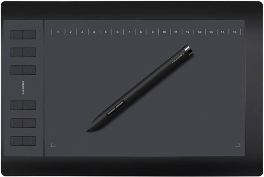 Huion 1060Plus Graphic Tablet Medium Bonus Softcase