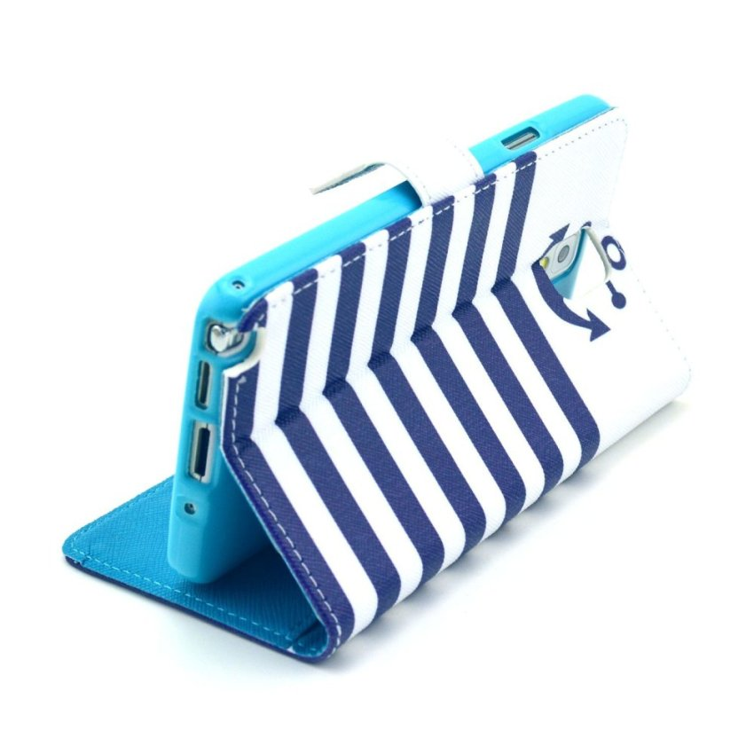 HXGRAND High Quality PU Leather Flip Stand Wallet Card Slot Bracket Back Case Cover for Samsung Galaxy Note 3
