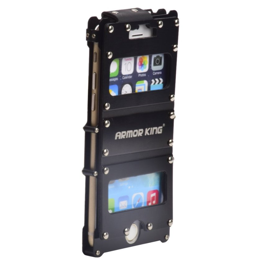I3C Armor King Aluminum Shockproof Case for iPhone 6 (Black)