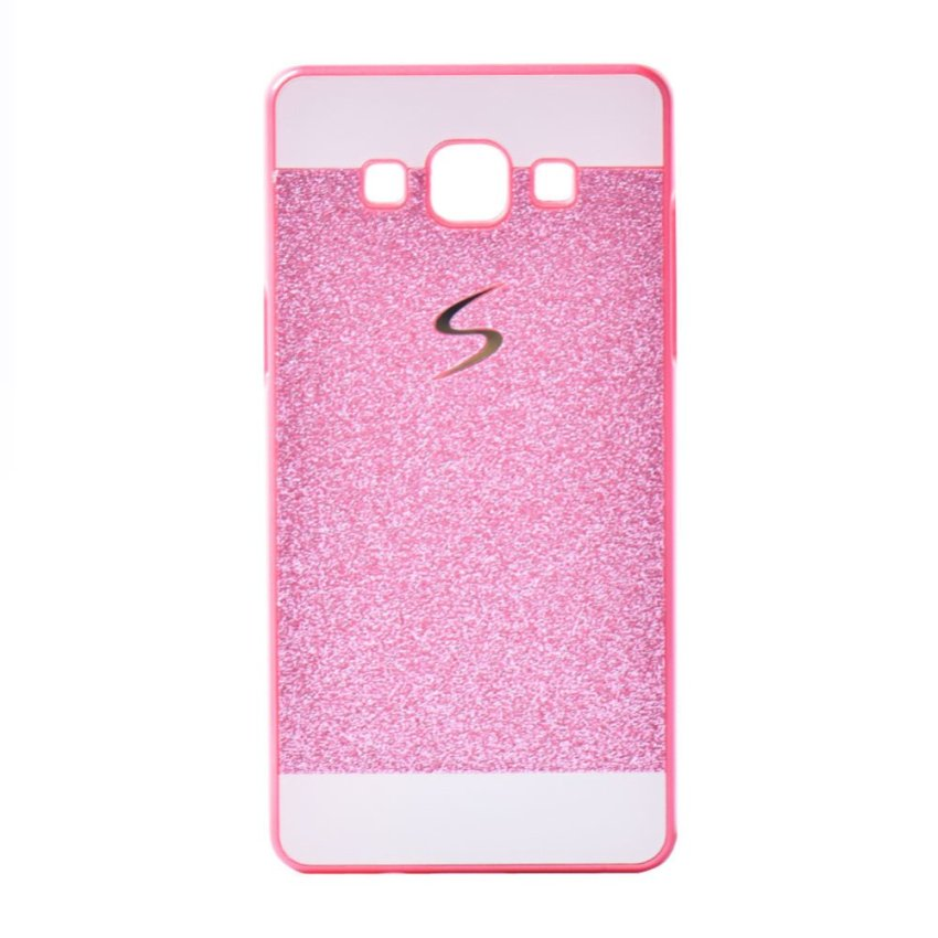 I3C Bling Glitter Luxury Sparkle Hard Back Case for Samsung Galaxy A7 Rose Red