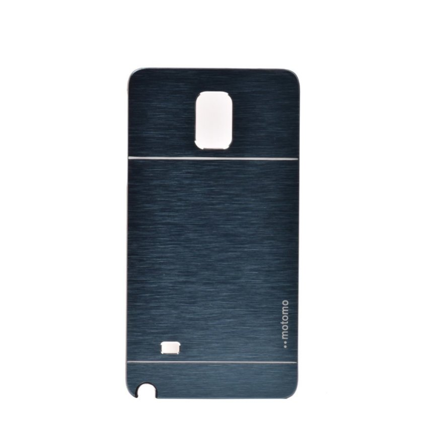 I3C Luxury Hybrid Aluminum Metal Brushed Hard Back Case Cover For Samsung Galaxy Note 4 Navy Blue