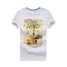 Ilife Store Summer Mens T Shirts Brand JOHN CABOT Short Sleeve O-Neck 100% Cotton Printing Maple Leaf Mens Tops Tees