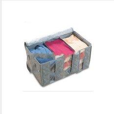 ILife Store Three Layers Bamboo Charcoal Clothing Storage Bag Sweater Storage Box Bedding Organizer 65L - Intl