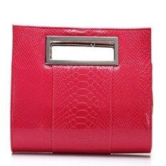 Ilife Women Clutch Women's Wallets Crocodile Handbag Famous Brand Lady Alligator Shoulder Messenger Bag Bolsas (Red) - Intl