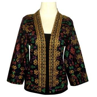 Inami Batik Blazer Batik Wanita Modern Model Kimono - Hitam   Lazada ...