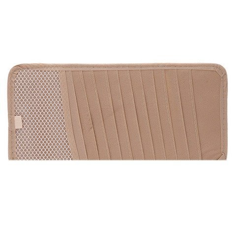 Indo Dealz Car CD Holder CD Organizer Mobil - Beige