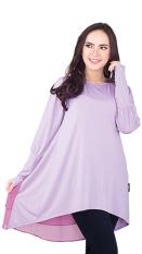 Inficlo & Blackkelly Tunik Inficlo SRS 745 Ungu Muda Wanita - Baju Tunic Cewek Jersey