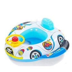 Inflatable Baby Child Toddler Infant Swimming Seat Float Boat Ring Raft Chair Pool Toy (Speaker Car)