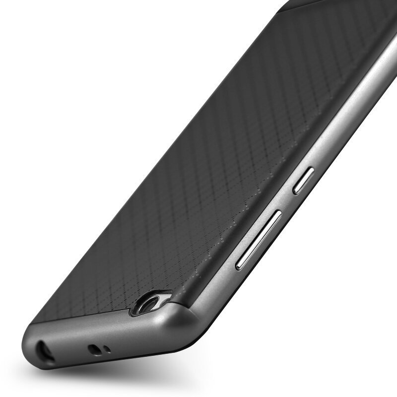 iPaky Silicon Dual Layer Frame Case for Xiaomi Mi5 (Grey) (Intl)