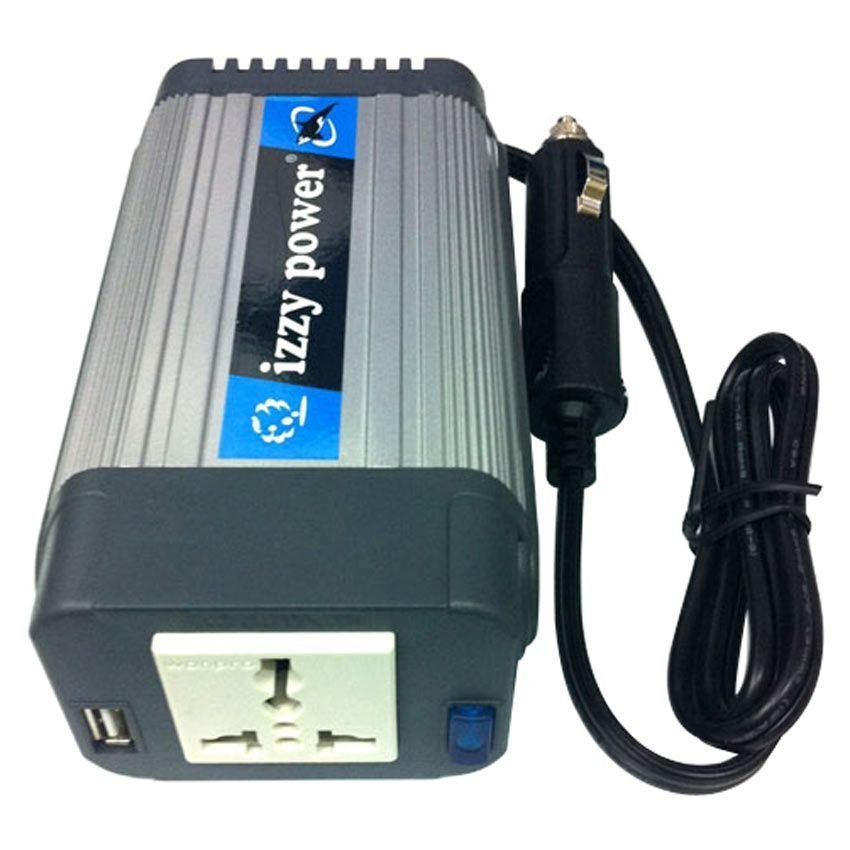 Izzy Power Car Inverter Model HT-E-150CO-12 150 Watt 12 Volts Cylinder