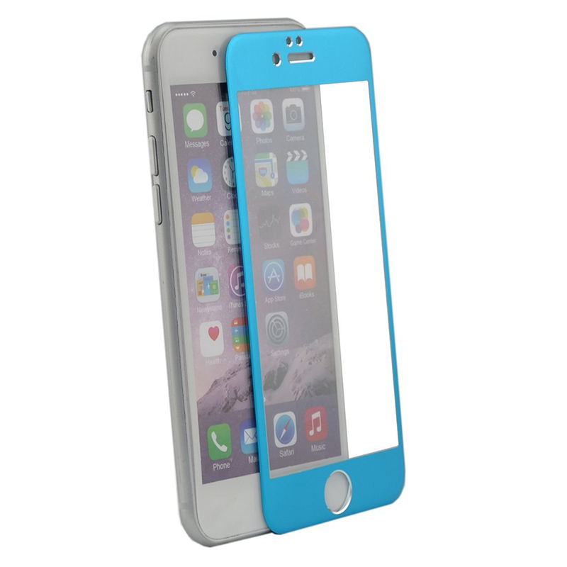 Jewelrybase Screen Protector Film Full-Cover for iPhone 6 Plus Blue (Intl)