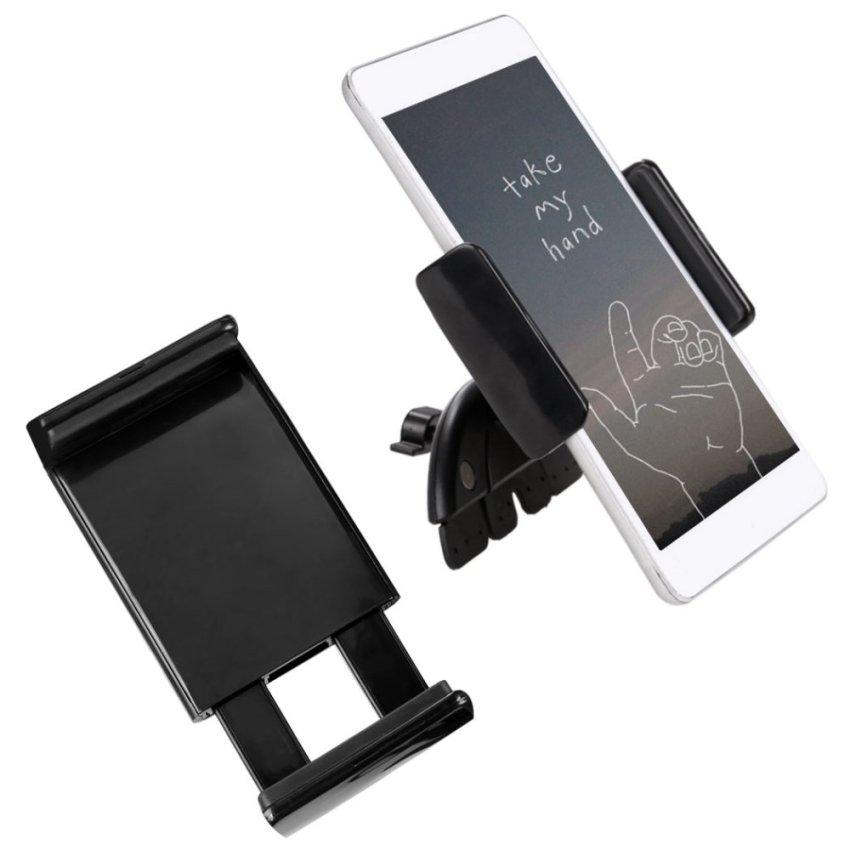 JinGle Adjustable Car CD Slot Stand Holder Mount for Phone Tablet (Black) (Intl)