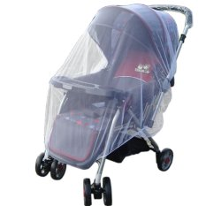 JinGle Baby Stroller Pushchair Mosquito Insect Net Buggy Cover Safe Mesh (White) (Intl)