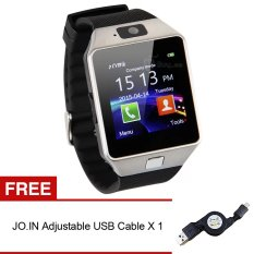 Jo.In Bluetooth DZ09 Android Call Reminder Smart Watch (Silver) + FREE Adjustable USB Cable - Intl