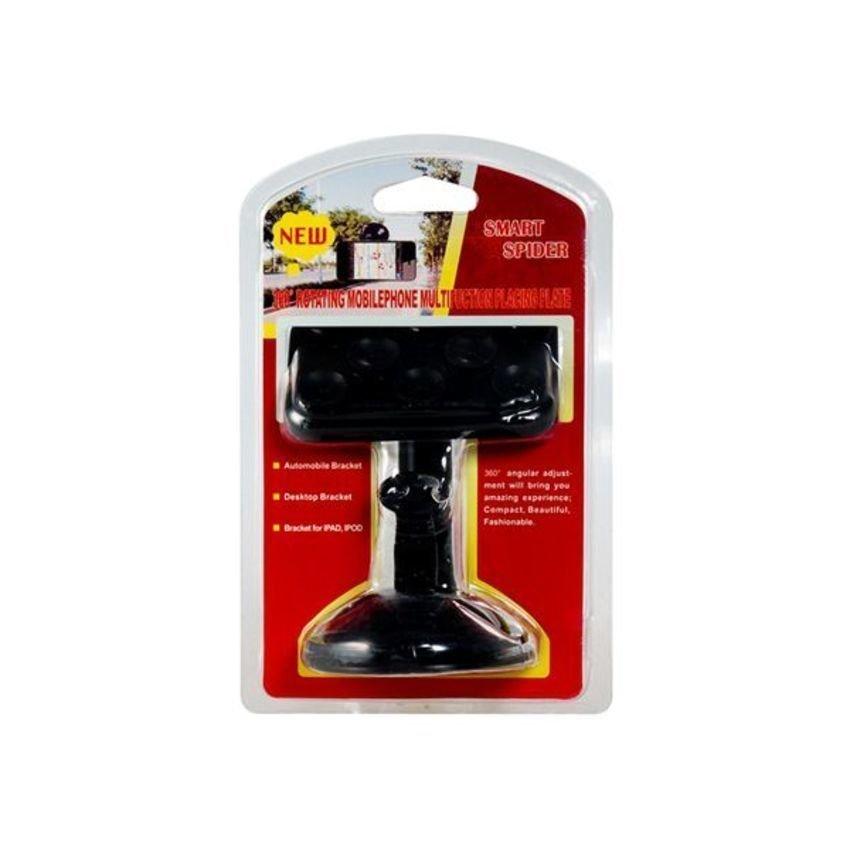 JOR 360 Degree Rotating Multifunction Placing Plate Car Mount Holder for Mobile Phone GPS Navigation Tablet PC (Black) (Intl)