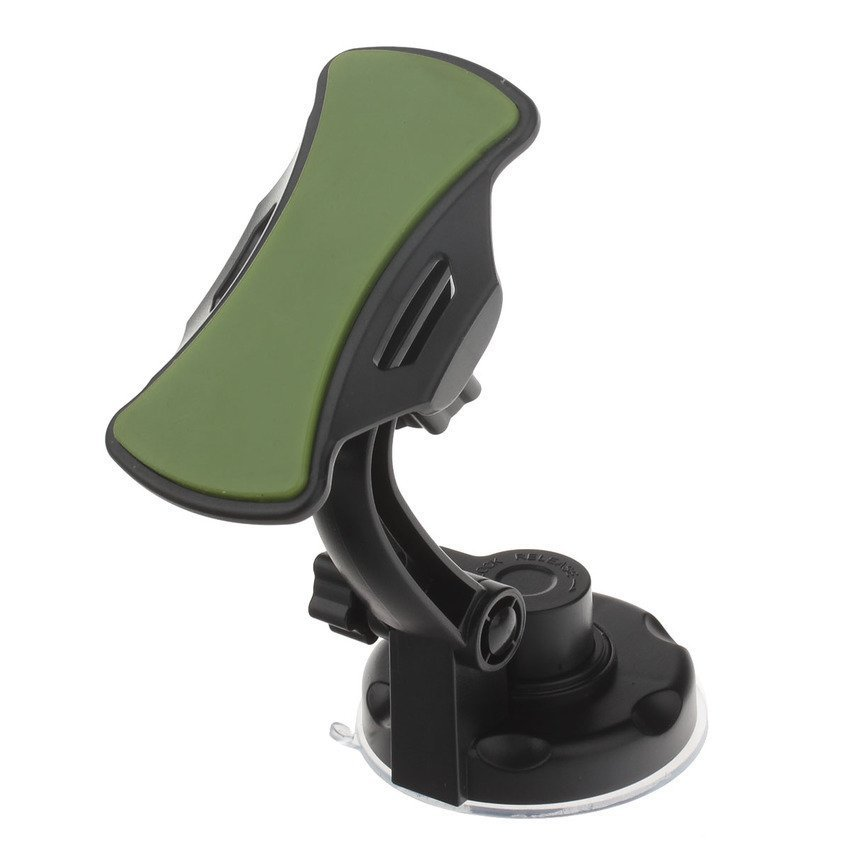 JOR 360 Degree Rotation Holder Mount w/ H17 Suction Cup + C71 Paste Back Clamp for Mobile - Black+ Green (Intl)