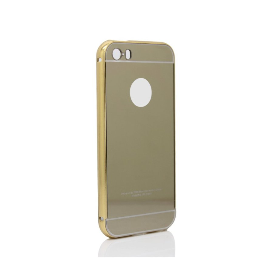 joyliveCY Metal Bumper and Ultrathin Back Cover for iPhone SE / 5S / 5 (Gold) (Intl)